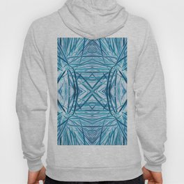 Abstract Turquoise Grass Design 610 Hoody