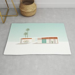 Palm Springs California Southwestern Style House with Cacti Rug