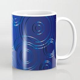 Blue Circle Background Coffee Mug