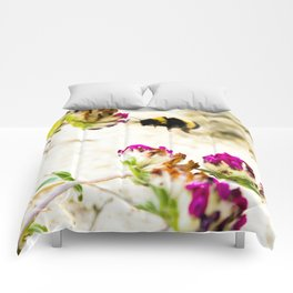 the flight of bumble bee on the dunes I Comforters