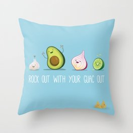 Rock Out With Your Guac Out Throw Pillow