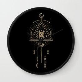 Mandala Tribal Eye Copper Bronze Gold Wall Clock