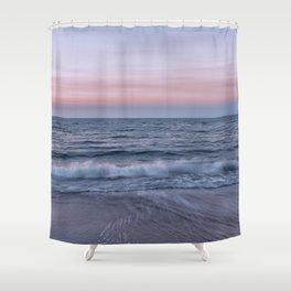 Pastel beach sunset Shower Curtain