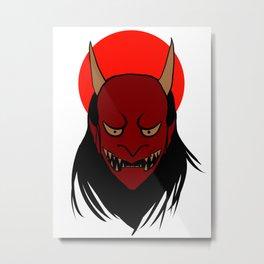 Oni mask Metal Print