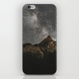 Milky Way Over Mountains - Landscape Photography iPhone Skin