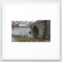 Rainy bridge Framed Art Print