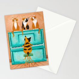 Piano Cats Stationery Cards
