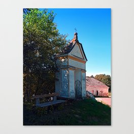 The small chapel at the mill Canvas Print