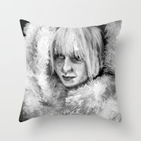 sia Throw Pillows featuring Sia by JenHoney