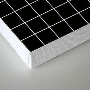 Grid Simple Line Black Minimalistic Canvas Print