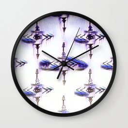 Eye's On The Target Wall Clock