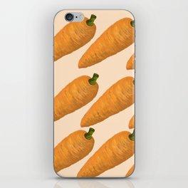 Beautiful Digital illustration of carrots iPhone Skin