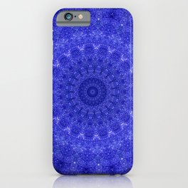 Cosmos Mandala II Cobalt Blue iPhone Case