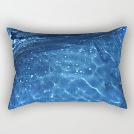 descente - Blue Ocean Water Abstract - Modern Home Decor Rectangular Pillow