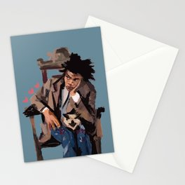 Basquiat and cat. Stationery Cards