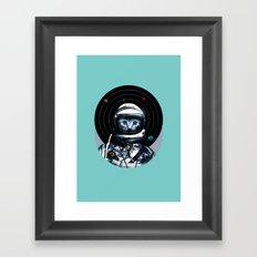 Space Kitten (white ver.) Framed Art Print