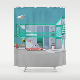 No Vacancy Shower Curtain