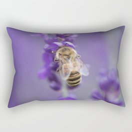 Lavender Bee Rectangular Pillow