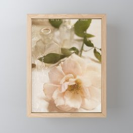 Oui Pink Rose Framed Mini Art Print