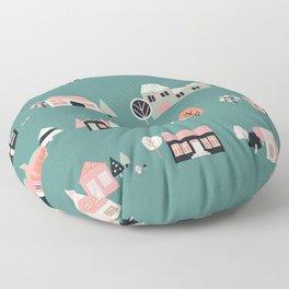 Scandinavian Summer Houses 1 Floor Pillow