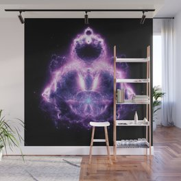 Purple Buddhabrot Fractal Art Wall Mural