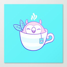 Owl Tea Canvas Print