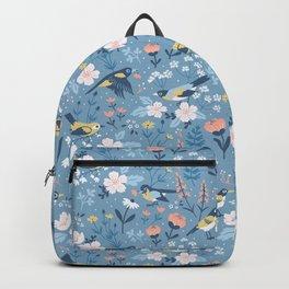 Birds & Blooms (Blue) Backpack