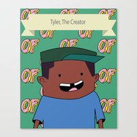 tyler the creator Canvas Prints featuring Tyler, The Creator by Stodium