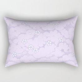 Kumori Nochi Sakura: Purple Rectangular Pillow