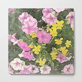 Petunias and Violas Metal Print