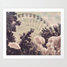 Cotton Candy Wheel Art Print