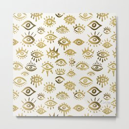 Mystic Eyes – Gold Metal Print