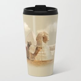 Egypt landscape with camels Travel Mug