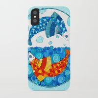 pisces iPhone & iPod Cases featuring Pisces by Sandra Nascimento
