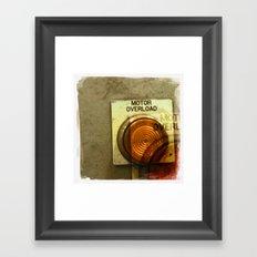 motor overload 1 Framed Art Print