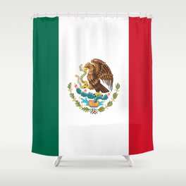 mexican sports fan mexico flag Shower Curtain