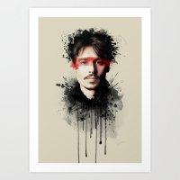 johnny depp Art Prints featuring Johnny Depp by Brigitta
