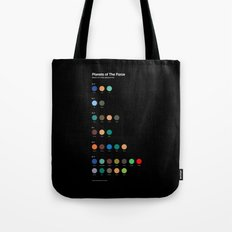 Planets of The Force Tote Bag