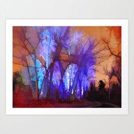 Fairy Maple Magic Trees  Art Print