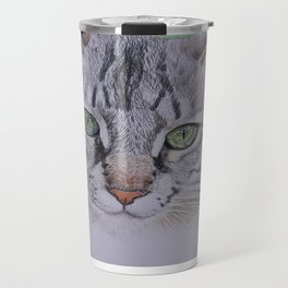Striped cat Travel Mug