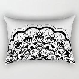 black&white mandala with flower Rectangular Pillow