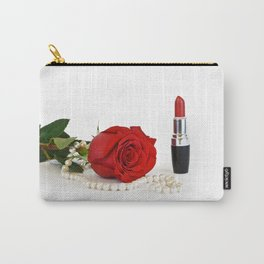 Rose, lipstick and pearls Carry-All Pouch
