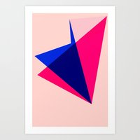 origami Art Prints featuring Origami by TheseRmyDesigns