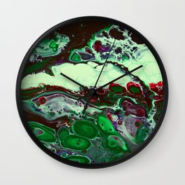 """Green Compliments"" Wall Clock"