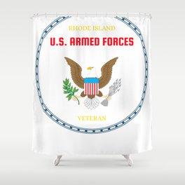 Rhode Island U.S. Armed Forces Veteran Shower Curtain
