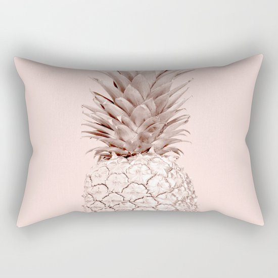 Rose Gold Pineapple on Blush Pink by followmeinstead