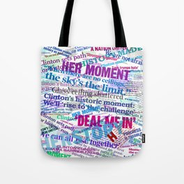 Hillary 2016 Abstract Headline Collage Tote Bag