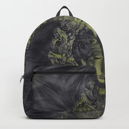 held in dark shadow Head of Buddha Backpack
