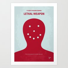 No327 My Lethal Weapon minimal movie poster Art Print