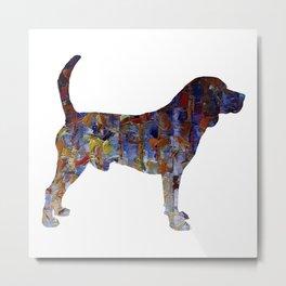 Beagle Oil Painting Metal Print
